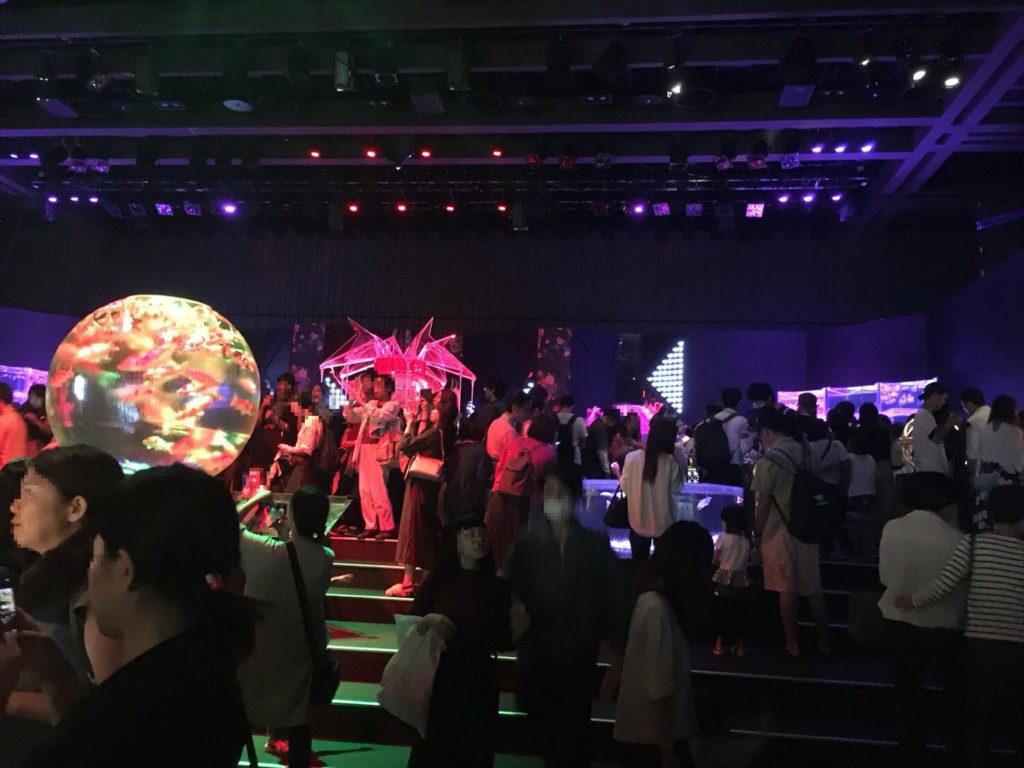 日本橋アートアクアリウムの混雑状況